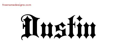 Old English Name Tattoo Designs Dustin Free Lettering - Free Name ...
