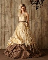 pale gold wedding dresses | Wedding Dress Fantasy
