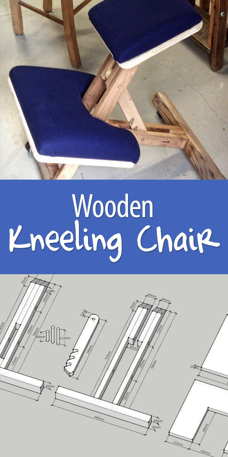 Kneeling Chair Design Plans Desk Edmonton Wooden Fun Furniture Pinterest Chairs Can Be Expensive Make Your Own To Exact Body Measurements
