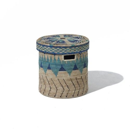 Woven Basket Pinterest : Donna wilson peaks woven linen basket with lid home