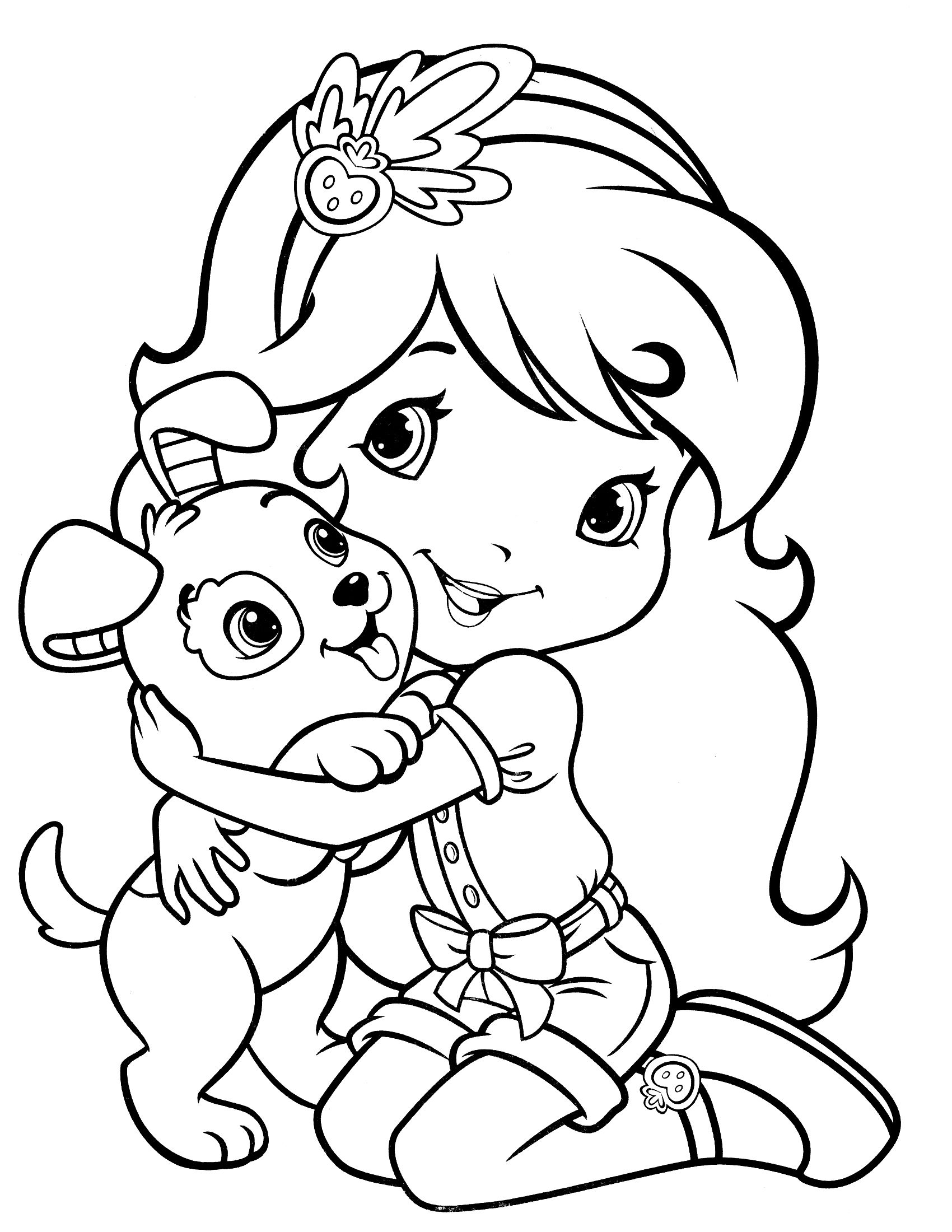 Pin By Katrina Adams On Coloring Sheets Strawberry Shortcake