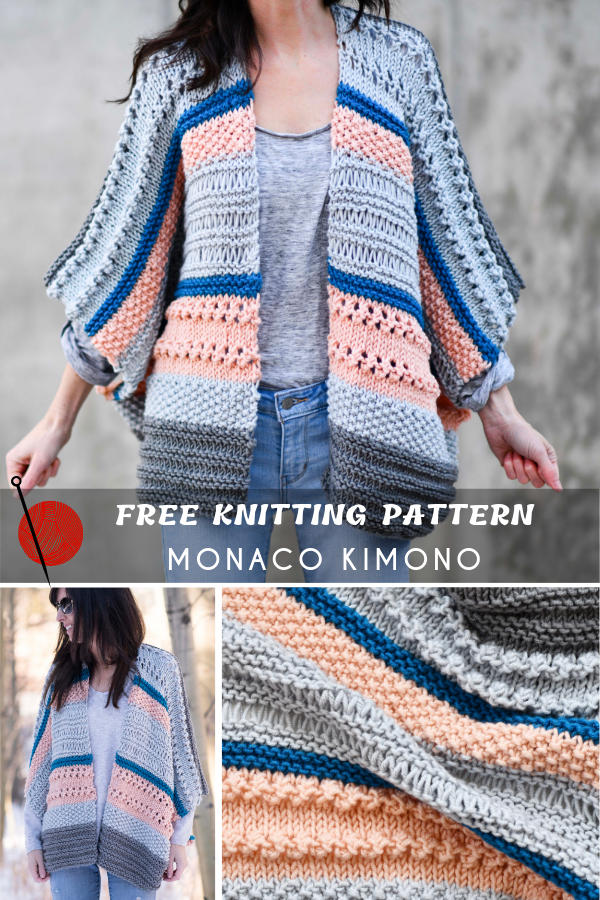 Easy Knitting Kimono Free Patterns | Easy knitting, Kimono ...