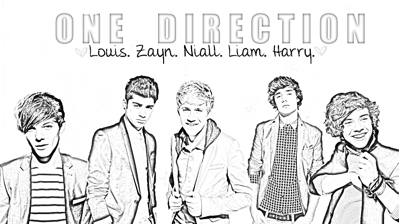 one direction coloring pages for girls One Direction