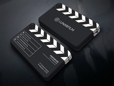 film clipperboard business card business cards business and