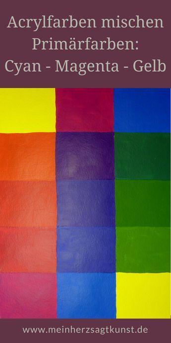 Acrylfarben Mischen Aus Primarfarben Acrylfarben Mischen