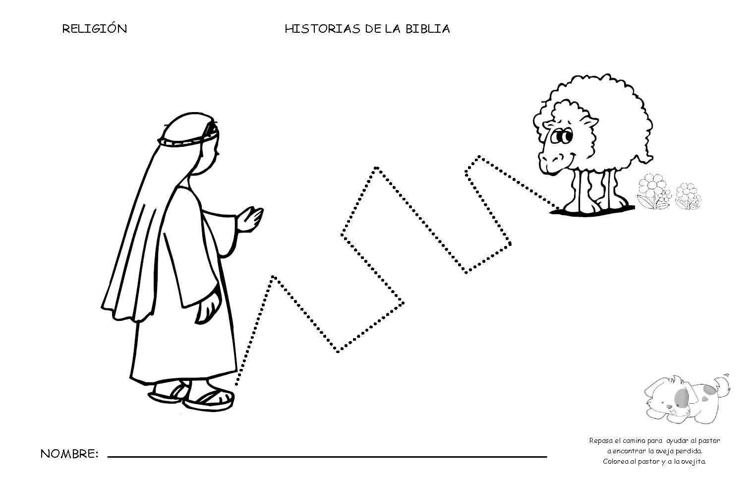 Aprendemos en reli: FICHAS DE LA OVEJA PERDIDA | dibujos | Pinterest ...