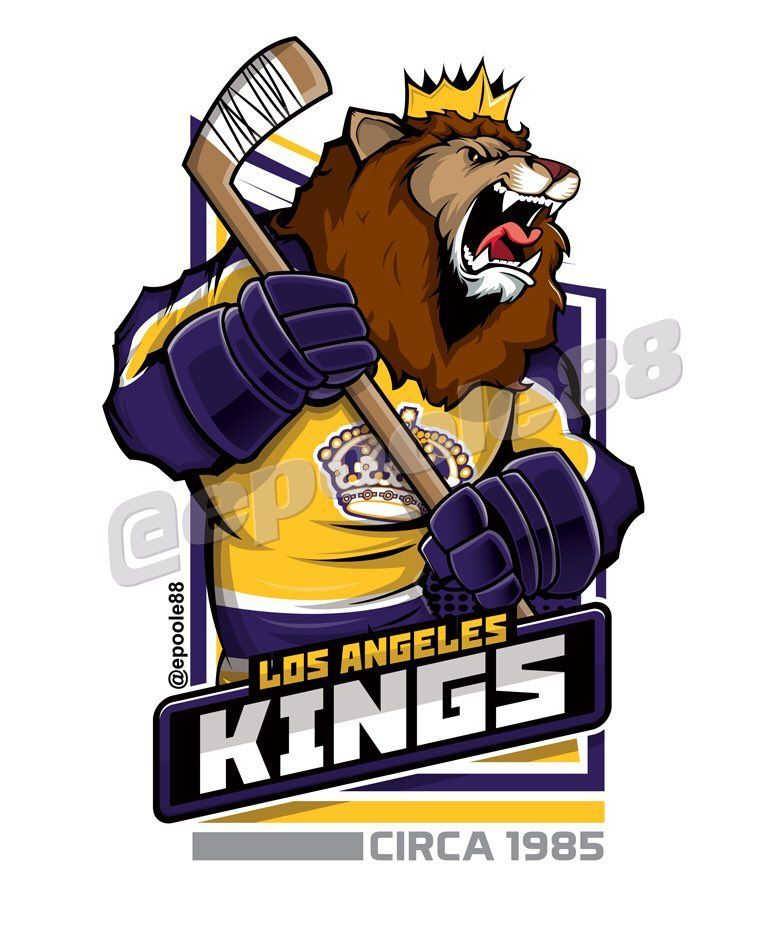 Retro 1980s Los Angeles Kings, courtesy of that great cartoonist #EPoole88.