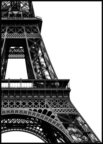 Eiffeltoren Close-up Poster - Zwart wit posters - Posterstore.nl