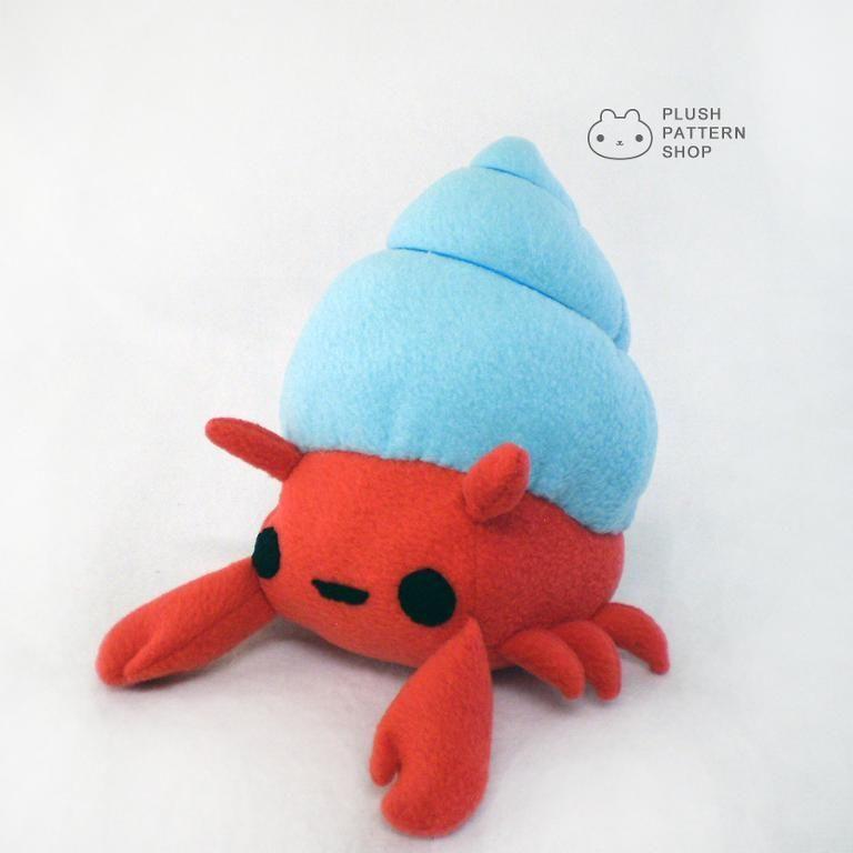 Crab Plush Toy Pattern | Tiere nähen, Plüsch und Kuscheltiere