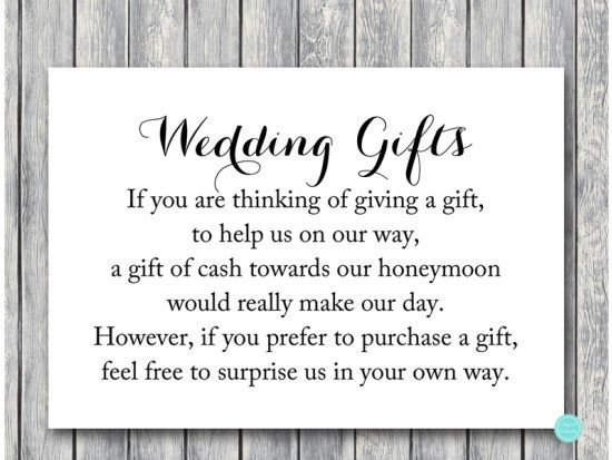TG00 Honeymoon Fund 3 5x5 Chic Wedding Gift Cash