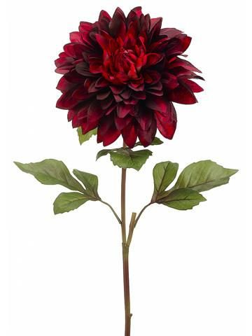 Oversized Faux Dahlia In Two Tone Red Burgundy9 Bloom X 25 5 Tall Dahlia Flower Silk Flowers Wedding Flowers