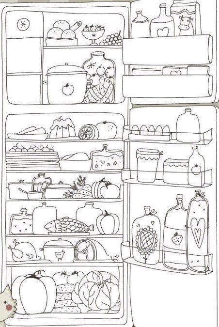 Холодильник | Раскраски, Планинг, Рисунки