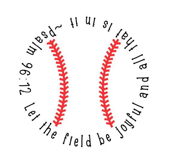 Baseball Decal with Bible Verse