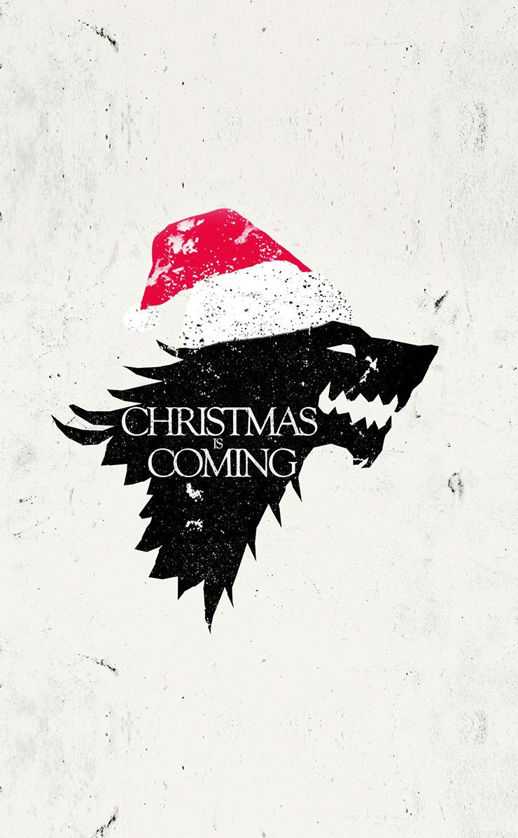 c0e5df087 ↑↑TAP AND GET THE FREE APP! Holidays Christmas is Coming White Movies  Series Game of Thrones Funny Santa Hat Wolf Direwolf Stark HBO HD iPhone 4  Wallpaper