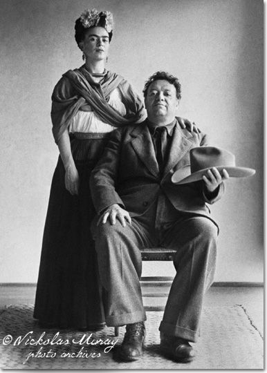 """""""Frida and Diego with Hat"""" (1941)"""