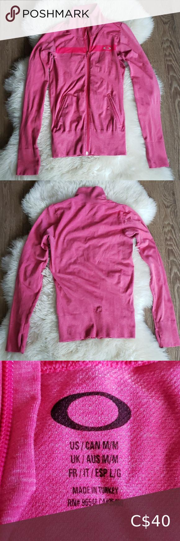 💕Oakley zip up sweatshirt M