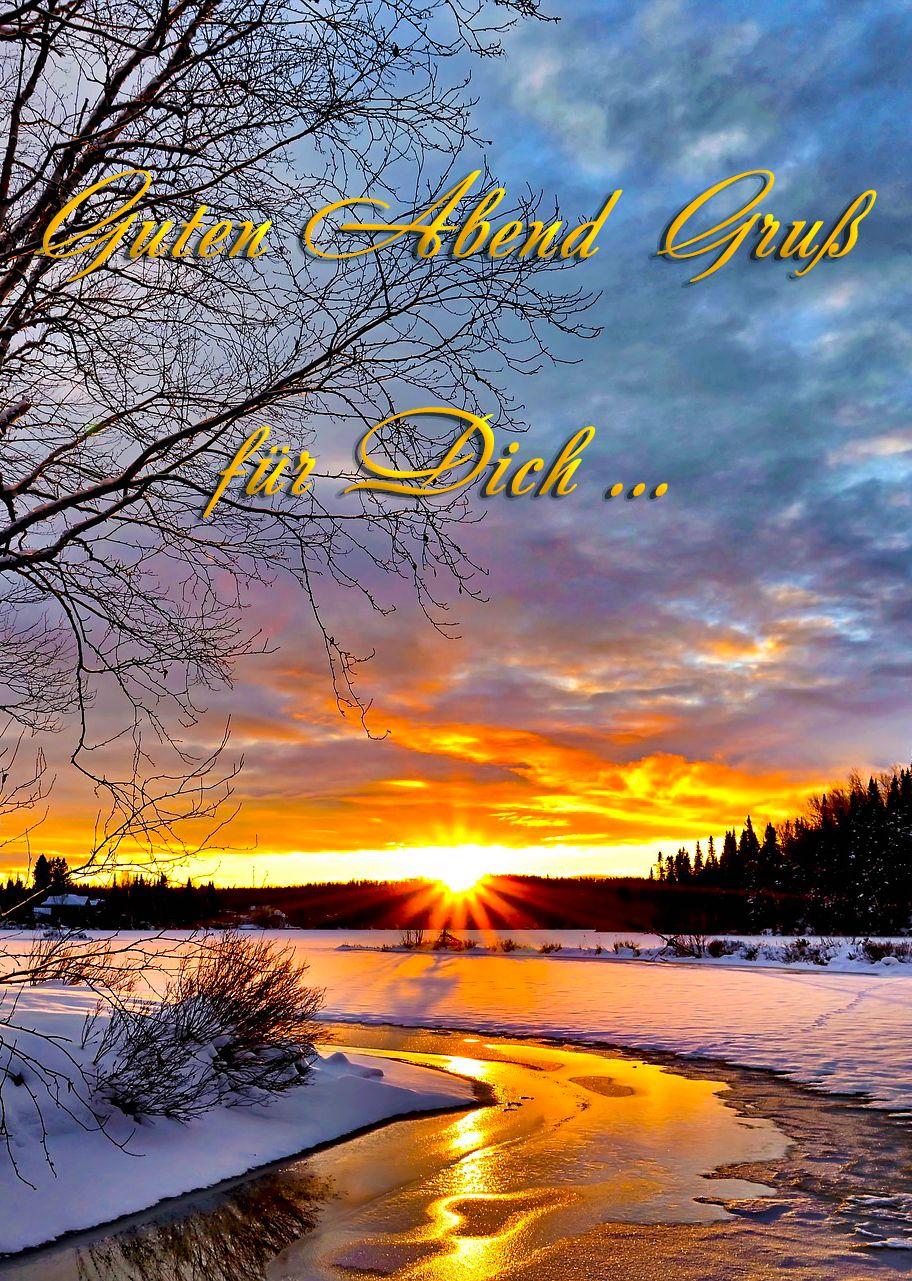 Wintergrüße... Guten Abend ...