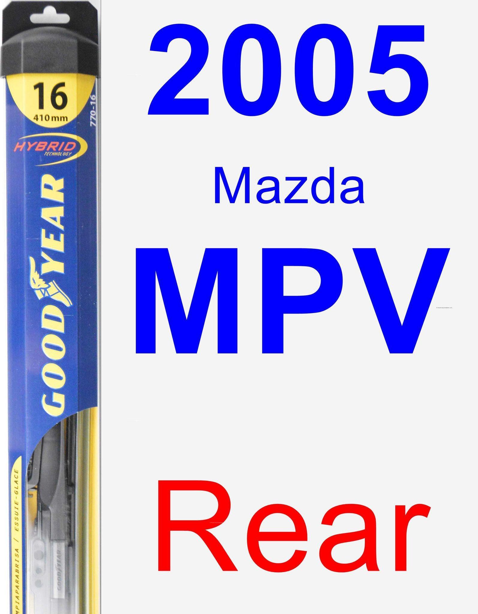 Rear Wiper Blade for 2005 Mazda MPV Hybrid Lexus lx570