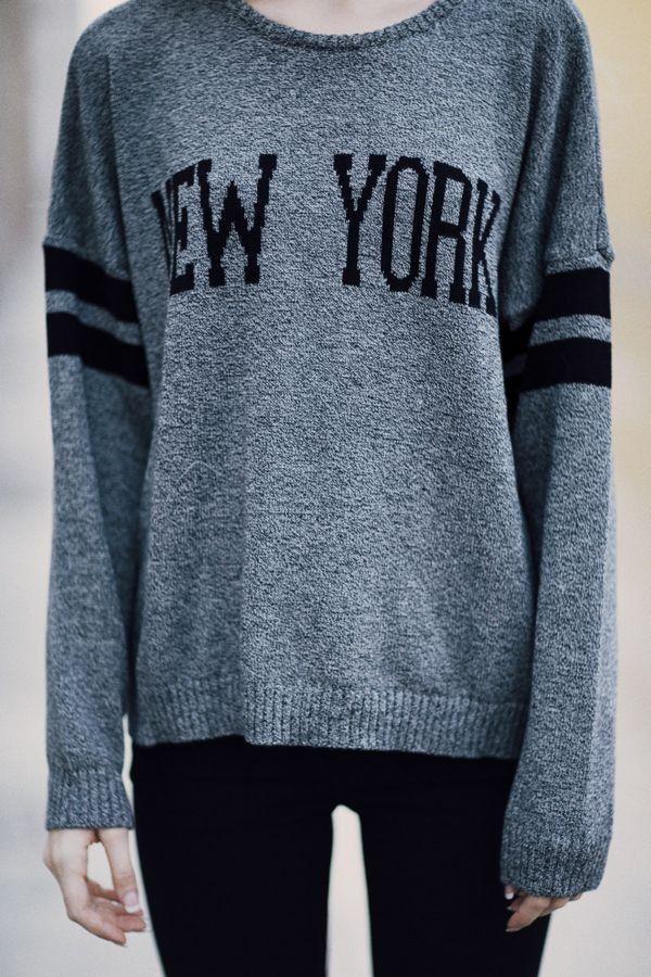 Brandy Melville Veena New York Sweater Sweaters Clothing