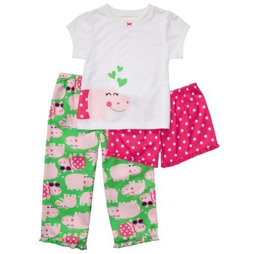 Super Ready for Bed NWT Pajamas Carter/'s Toddler Girls 3-Piece PJs
