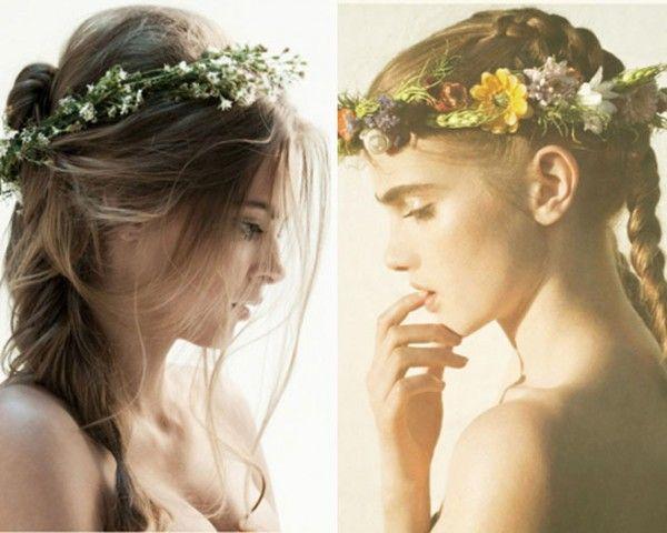 DIY floral crowns