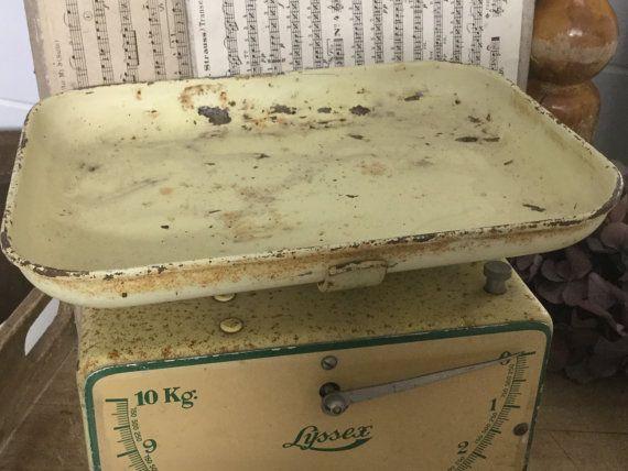 Antike Küchenwaage ~ Vintage waage haushaltswaage shabby küchenwaage von