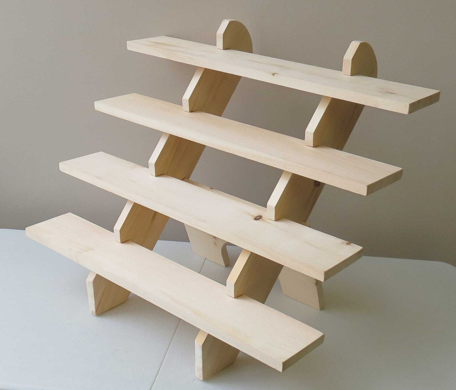 Collapsible riser portable display stand store by for How to build a display shelf