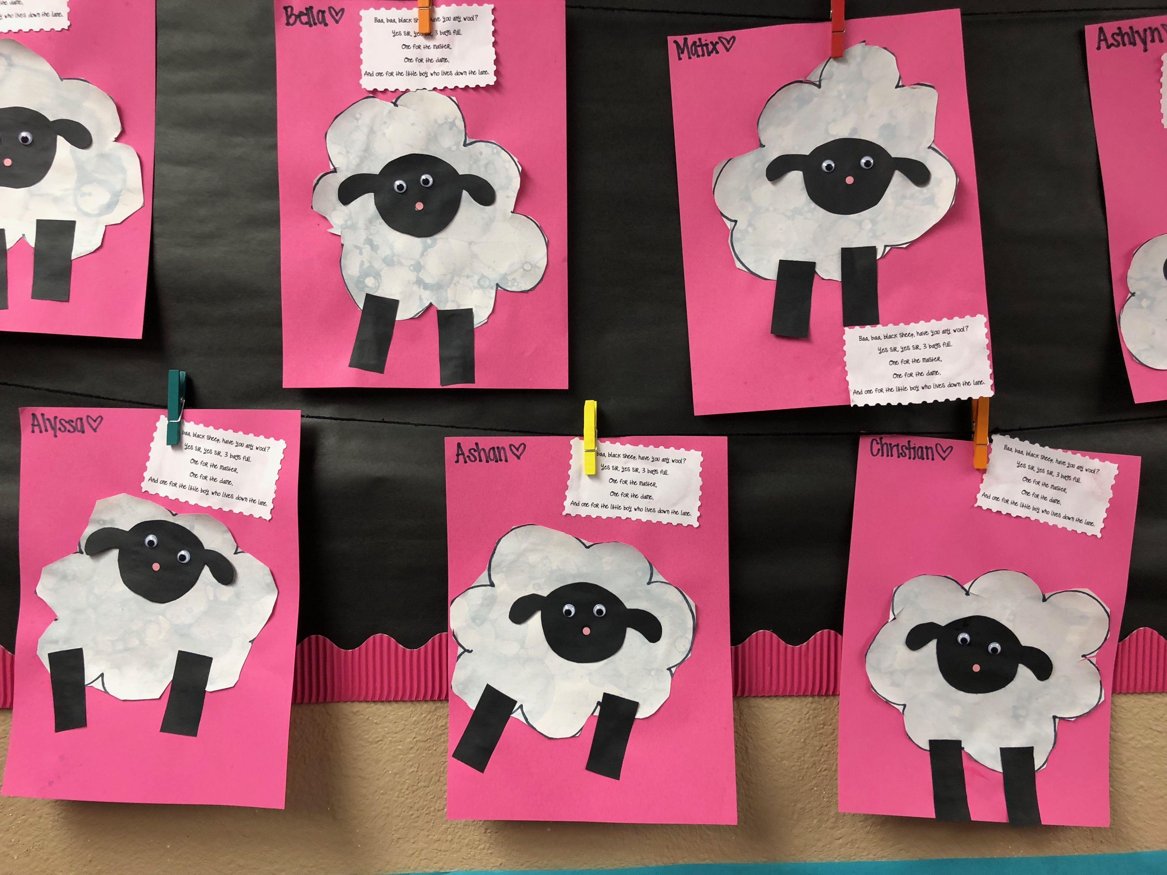 Baba Black Sheep Craft For Nursery Rhyme Theme
