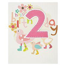 Buy Caroline Gardner 2nd Birthday Card Online at johnlewis.com
