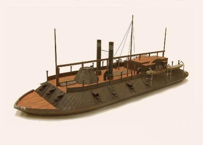 American civil war ironclad river gunboat uss cairo ver 2 for Cairo mobel