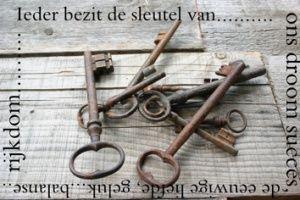 Ieder bezit de sleutel van....