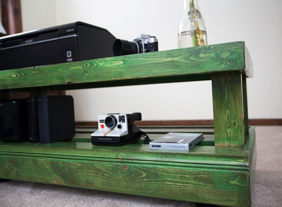 Wood Printer Table for Home or Office by GeaugaWoodworks on Etsy, $175.00