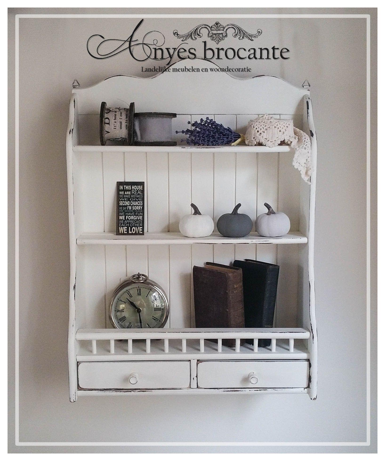 brocante keukenrekje wit â meubelen en kleinmeubelen