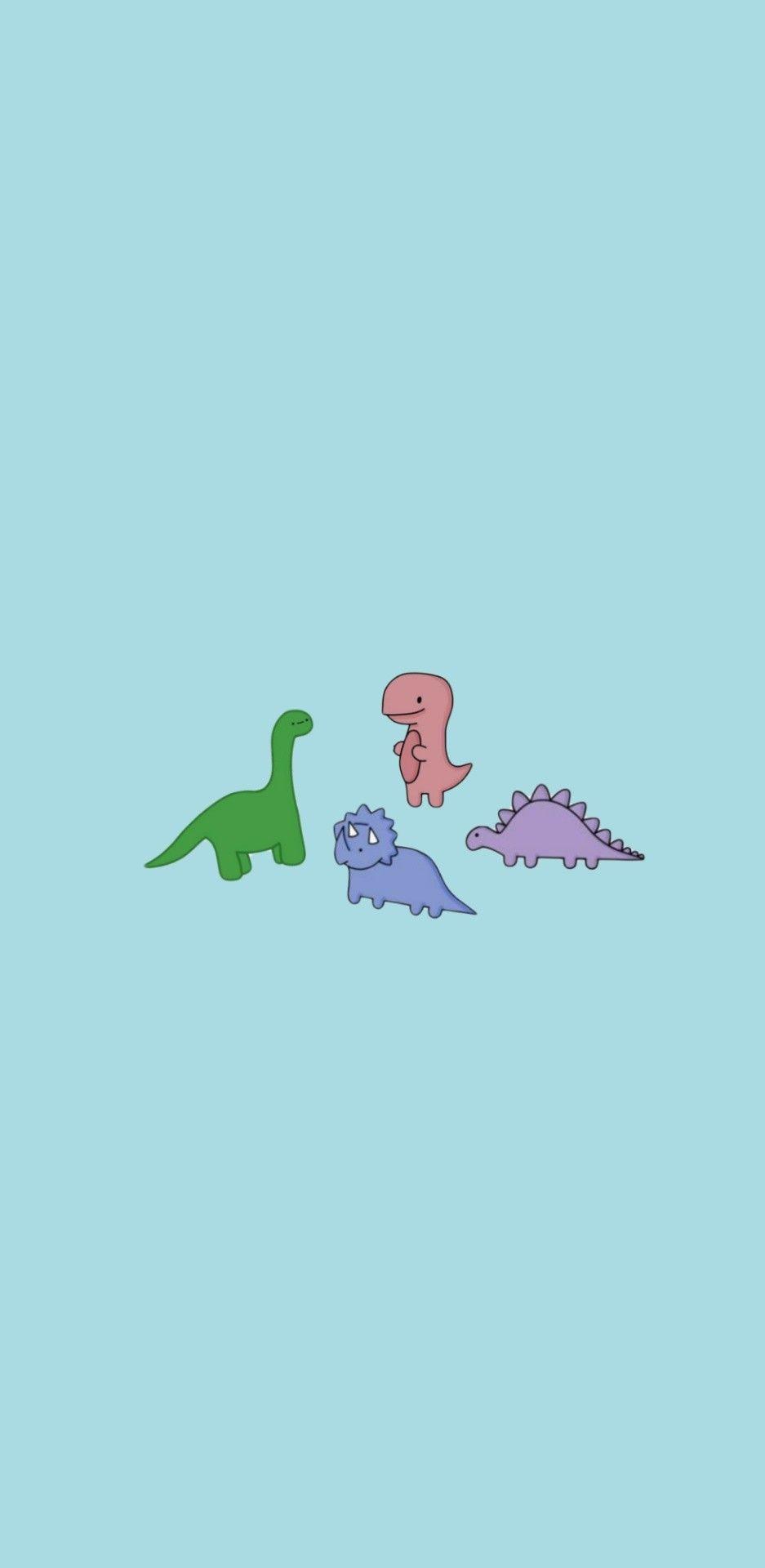 Cute Dino Wallpaper Dinosaur Wallpaper Cute Little Drawings Iphone Wallpaper Pattern