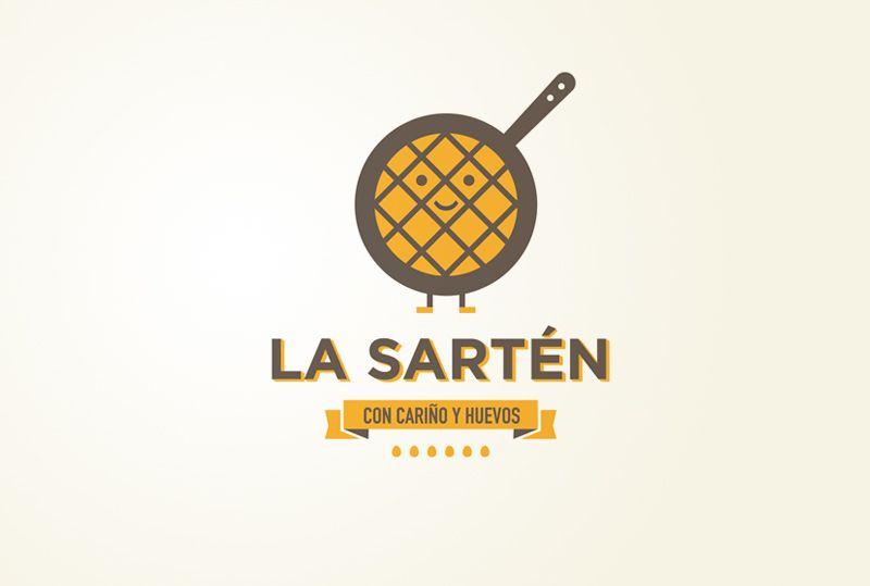 """Logotipo para La Sartén """"Con cariño y huevos"""" Tortillería situada en Cádiz http://raulgomez.es/portafolio/la-sarten/"""