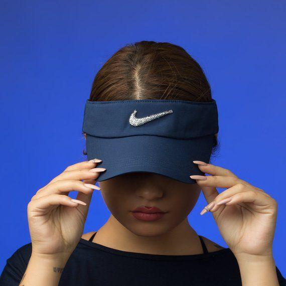 7eaf3edb2fc6d5 Bling Nike Visor Hat | Golf Visor, Tennis Gifts, Golf Gifts for ...