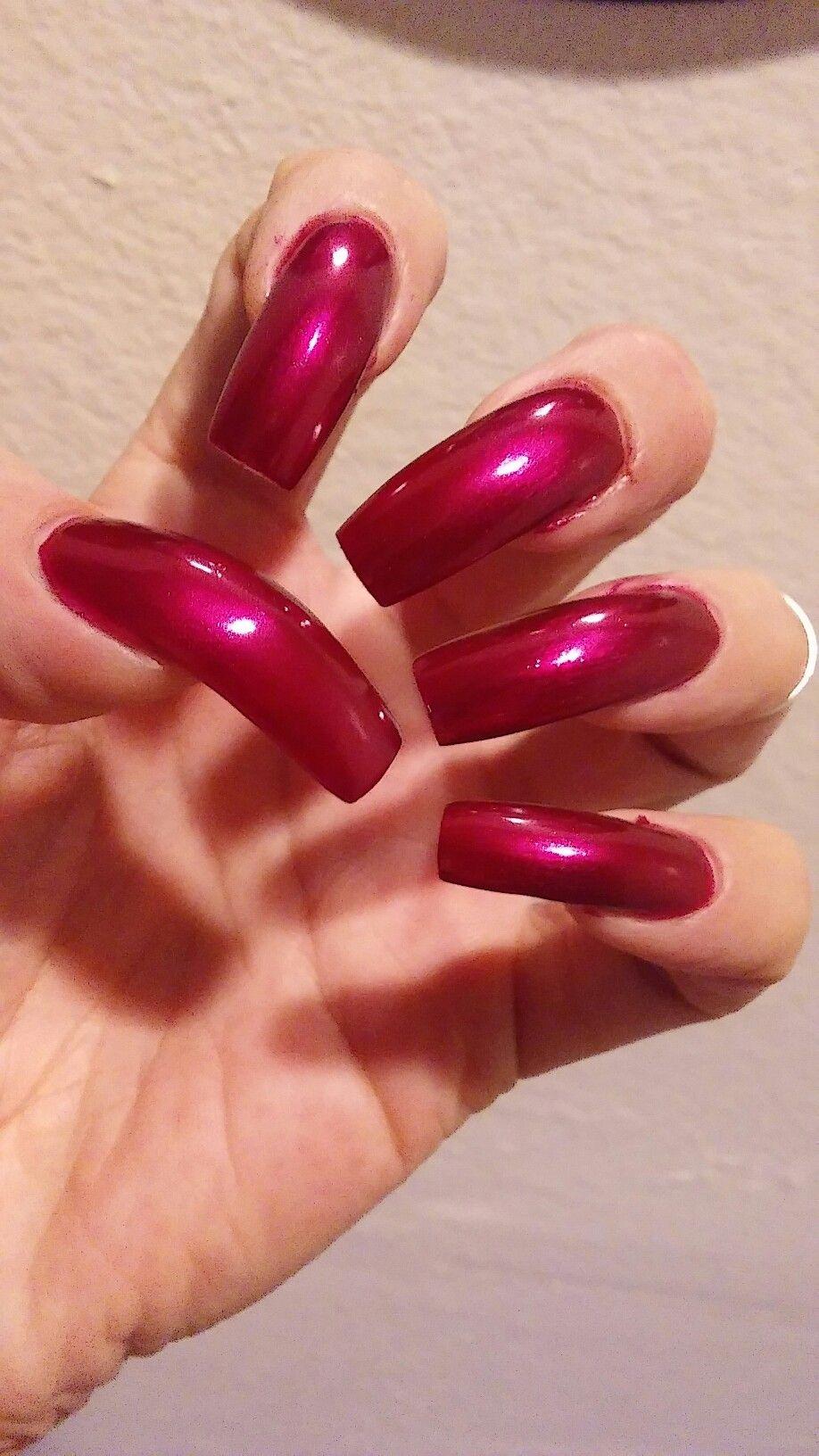 Excellent long red fingernail fetish above