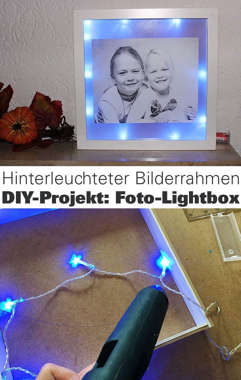 Beleuchteten Fotorahmen selber basteln Photo+Adventure DIY