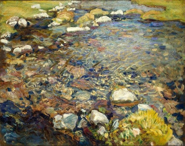 A Stream Over Rocks 1909 Oil On Canvas John Singer Sargent