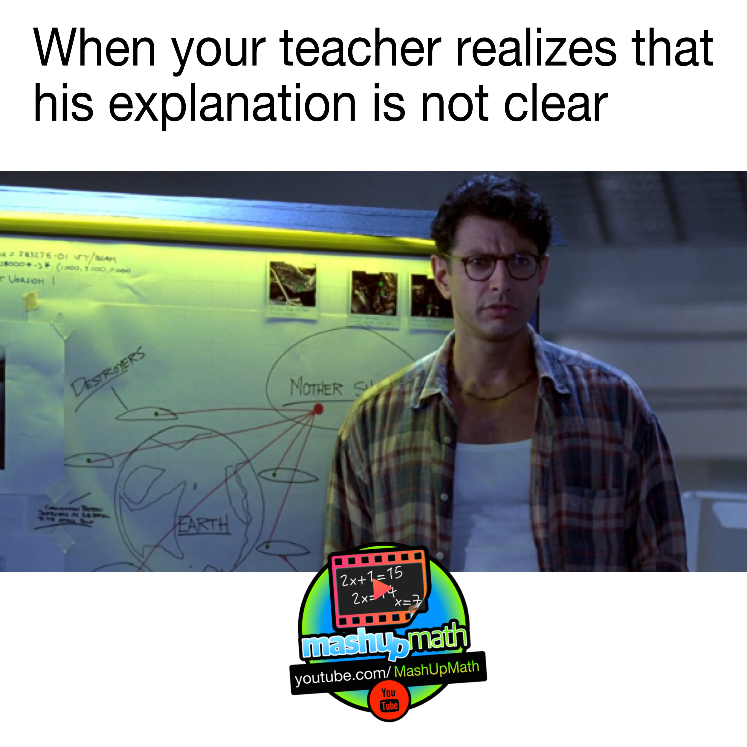 Math Memes And Jokes When Your Teacher Realizes That The