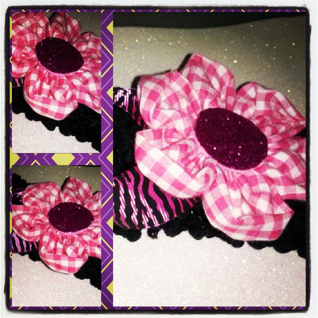 headband Flores de Tela.