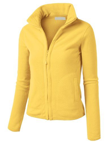 db807e7fb27a LE3NO Womens Lightweight Active Soft Fitted Zip up Fleece Jacket ...