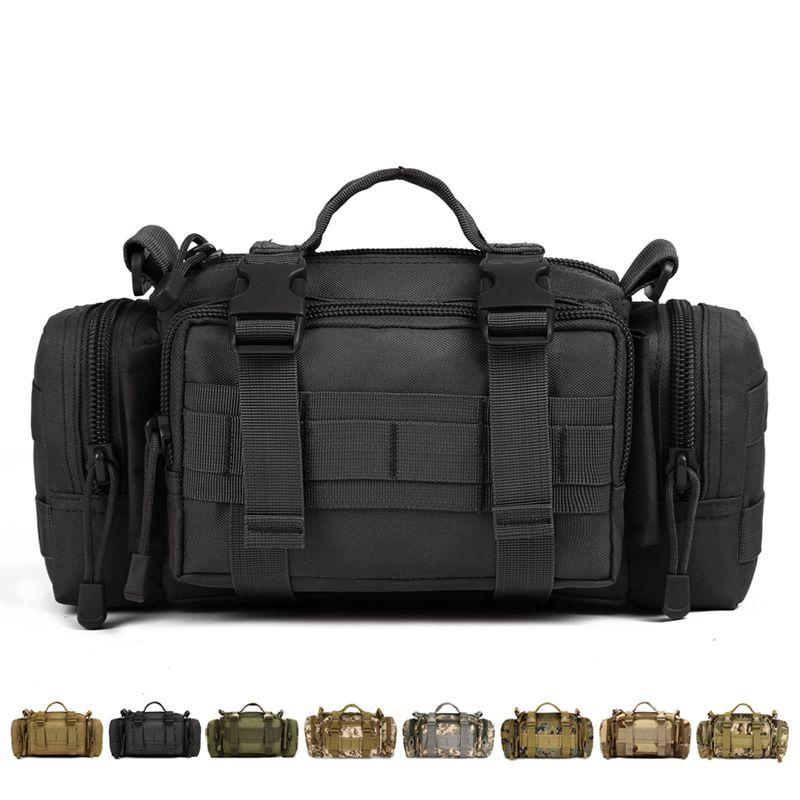 01abdd02eb Outdoor sports Multifunction Messenger bag Tactical Nylon Camo Waist ...
