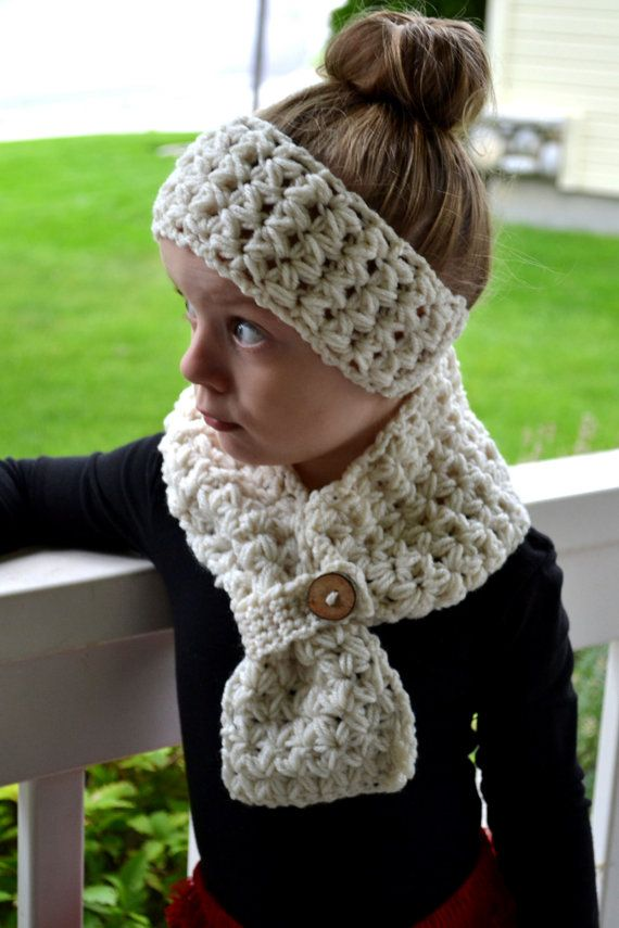 PATTERN Scarf & Headband Set - Cross My Heart - Crochet | Crochet ...