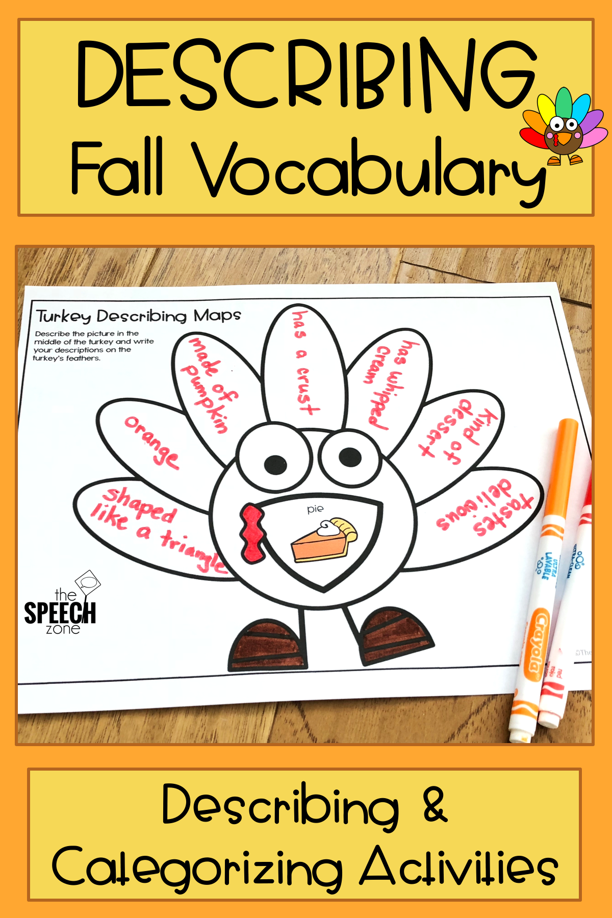 Fall Describing Vocabulary Graphic Organizer Worksheets