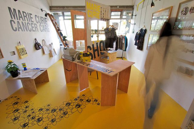 Karen McPherson Marie Curie pop up shop - Installation by Duncan Of Jordanstone, via Flickr