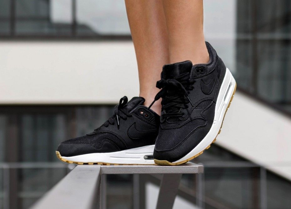 Nike Wmns Air Max 1 (Black / Black - Gum Light Brown) in ...
