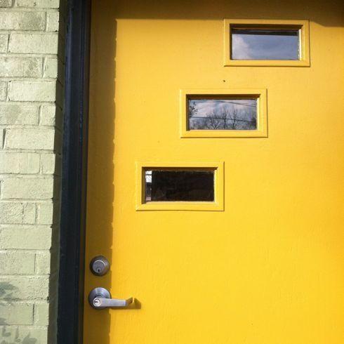 Mid Century Modern Front Door Mcm Front Door In Yellow Mid