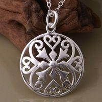 accc5cc038f0 Venta al por mayor envío gratuito 925 joyería de plata cadenas de collar  colgante WN-1089