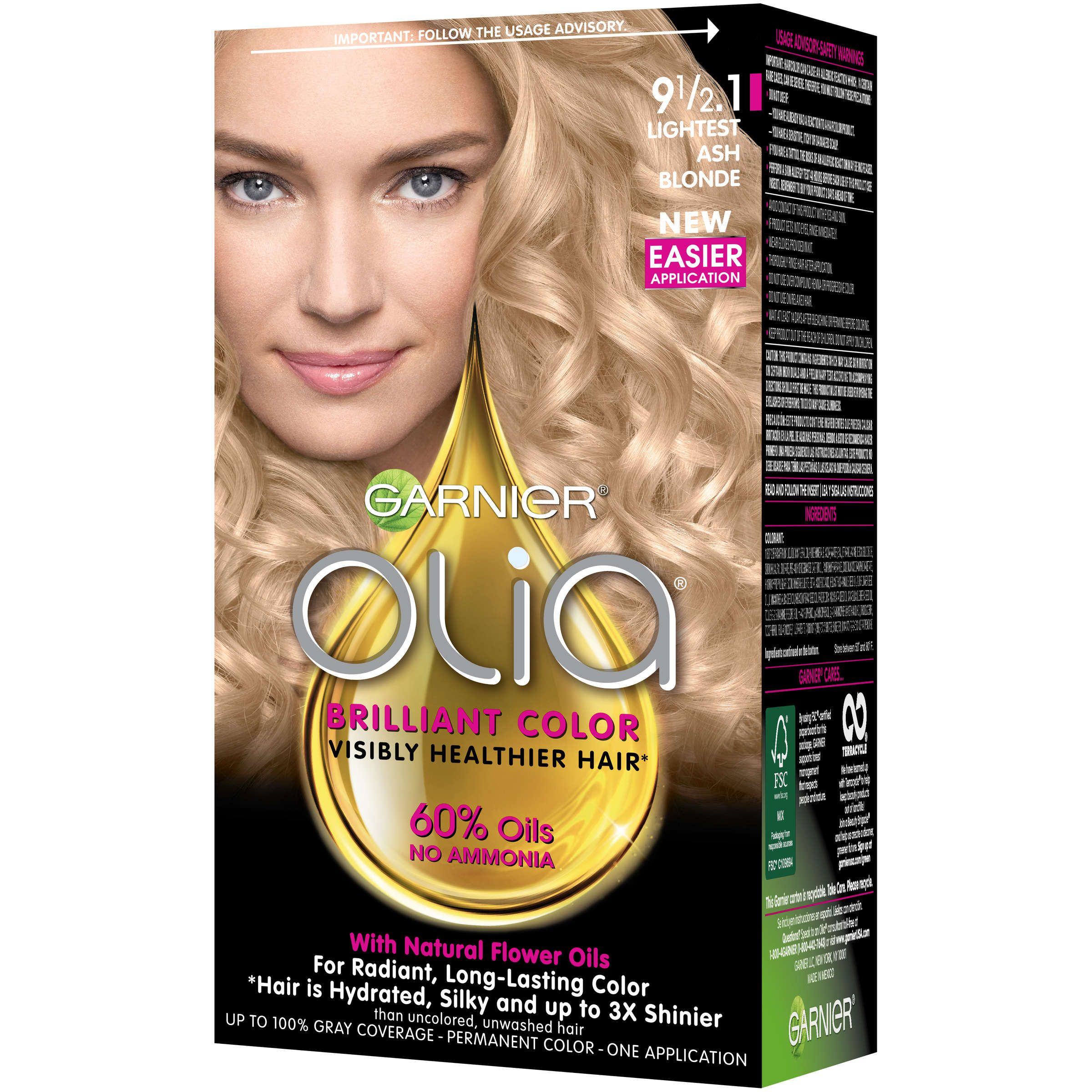 Garnier Olia Oil Powered Permanent Hair Color 9 0 Light Blonde